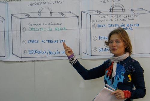 RAW frivillig Louise holder workshop for Cepromup